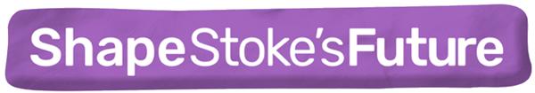 Shape Stoke Future Logo containing text Shape Stokes Future over plasticine background